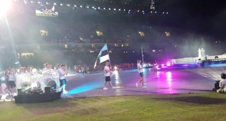 Noorte Olümpiafestivali avatseremoonial oli Eesti delegatsiooni lipukandjaks SIMON SÜLLA!!