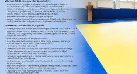 Audentese Judotreeneri Konkurss